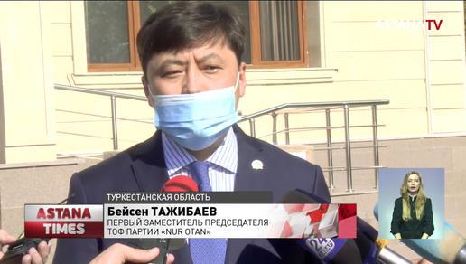 Больницам Туркестана подарили 52 кислородных аппарата