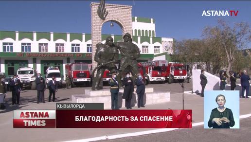 Новые спецмашины подарил пожарным акимат Кызылординской области