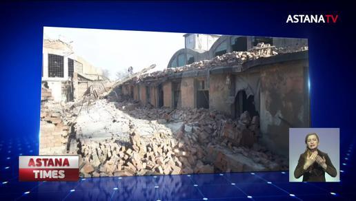 Четверо рабочих пострадали из-за обрушения старого здания в Балхаше