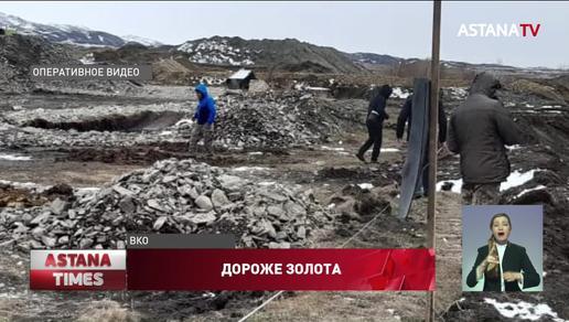 Десятки гектаров плодородной почвы уничтожили золотодобытчики ВКО
