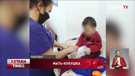 Женщина бросила годовалого ребенка на остановке в Павлодаре