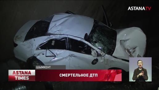 Легковушка влетела в яму в Шымкенте: водитель погиб на месте