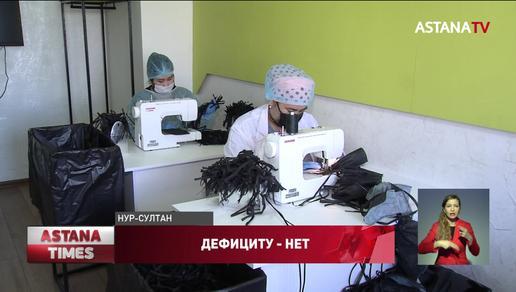 В столице открылась новая компания по пошиву медицинских масок