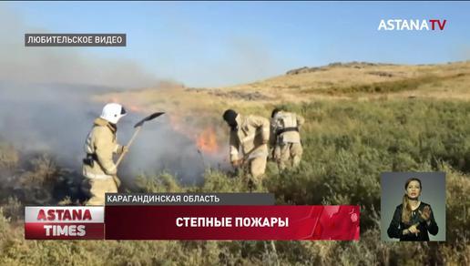Карагандинскую область охватили природные пожары
