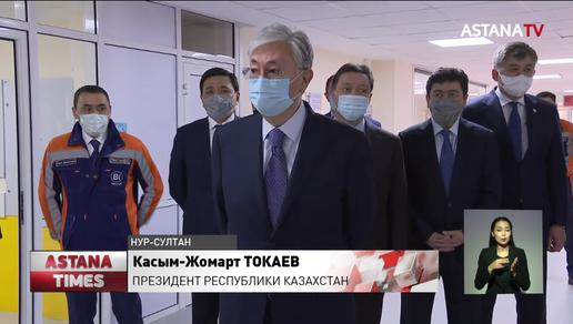 Президент Казахстана посетил новую инфекционную больницу