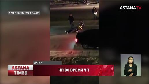 Внедорожник сбил полицейского в Актау