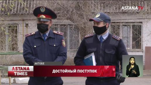 Полицейский оплатил долг за съемную квартиру актюбинской семье