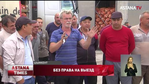 Дальнобойщики штурмуют здание территориальной инспекции в Шымкенте
