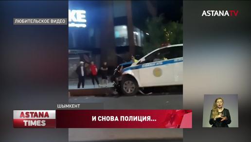 Авария с участием полицейского произошло в Шымкенте