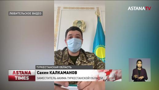 Под воду ушли населенные пункты в Туркестанской области