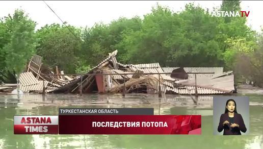 Затопленные поселки в Туркестанской области предложили перенести