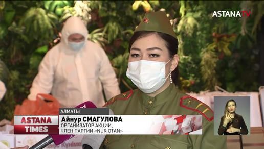 Под окнами ветеранов ВОВ в Алматы зазвучали мелодии военных лет