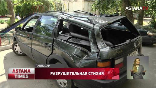 Насмерть завалил деревом подростка, повредил здания и машины ураган в Павлодарской области