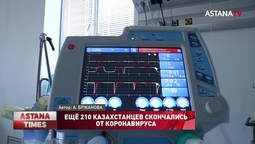Ещё 210 казахстанцев скончались от коронавируса