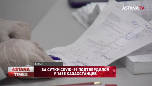 За сутки COVID-19 подтвердился у 1685 казахстанцев