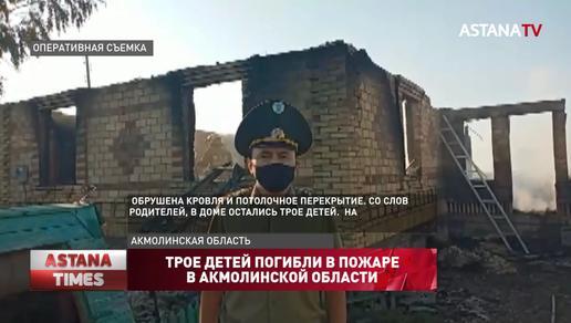 Трое детей погибли в пожаре в Акмолинской области