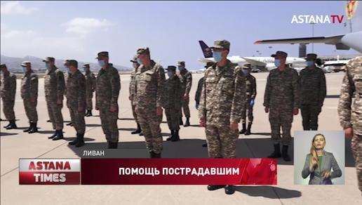 Казахстанские военные врачи лечат пострадавших в Ливане