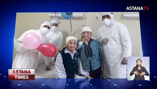 100-летняя жительница Шымкента переборола пневмонию