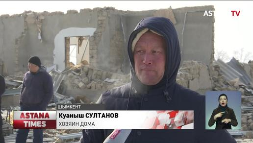 В Шымкенте от взрыва газового баллона пострадали мать и дочь