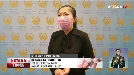 Погоню полицейских за нарушителем сняли жители Павлодарской области