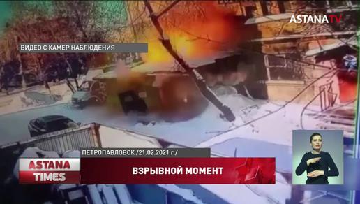 В соцсетях появилось видео взрыва в многоэтажке Петропавловска