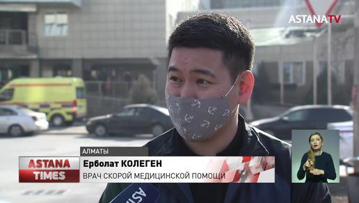 Выплаты ковидных надбавок требуют работники скорой помощи в Алматы