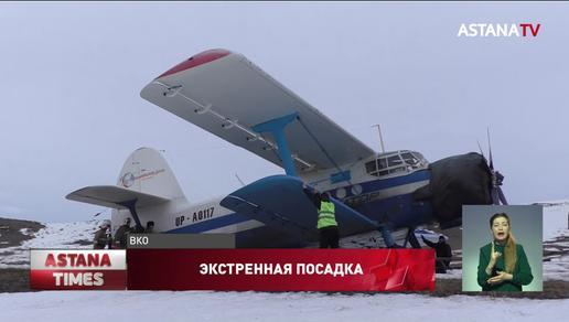 Самолет экстренно приземлился на трассу в Восточном Казахстане