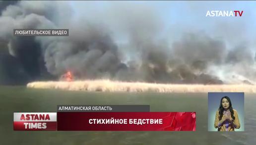 Крупный пожар в Алматинской области уничтожил коттеджи и водный транспорт