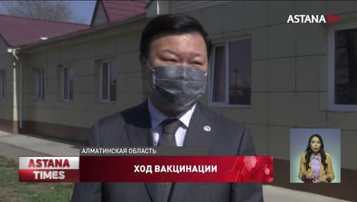 С ходом вакцинации в селах ознакомился Алексей Цой