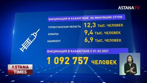 Миллион казахстанцев вакцинировались от коронавируса