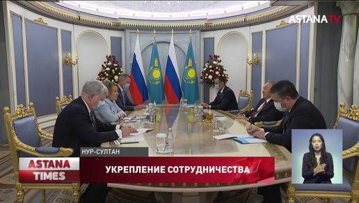 Укрепление сотрудничества между Казахстаном и Россией Н. Назарбаев обсудил с В. Матвиенко