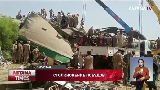 36 человек погибли во время столкновения двух поездов в Пакистане
