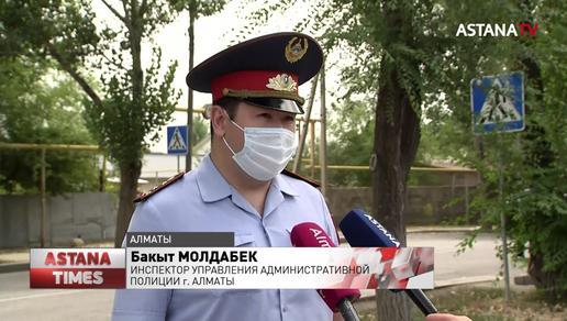 На опасном участке дороги Алматы установят ограничительные знаки