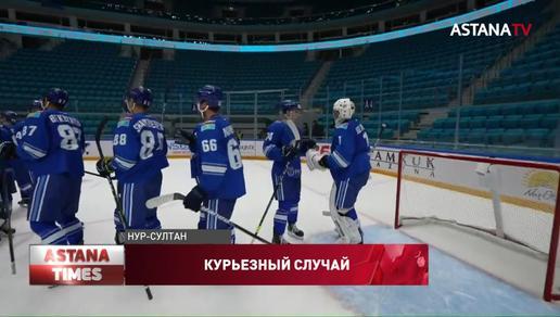 Курьезный случай произошел на финале Кубка Президента РК по хоккею