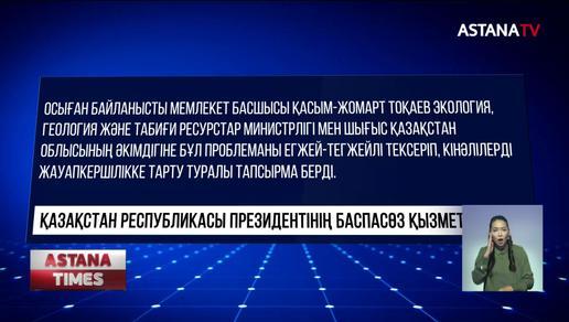 Өзенді ластаған кінәлілер жазалансын,-Қ.Тоқаев