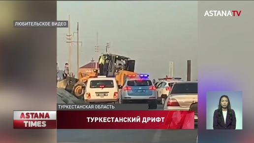 Пьяный водитель устроил погоню с полицейскими в Туркестанской области